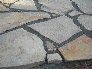 Merveilleux The Same Flagstone Patio Showing The Polymeric Sand Closer ...