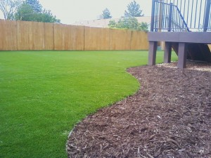 Turf and mulch